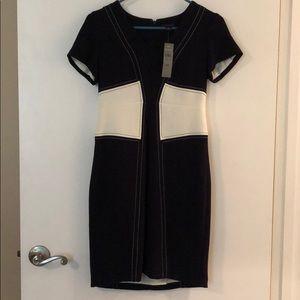 NWT Navy & White V-Neck Ann Taylor Dress